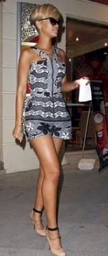 Rihanna also rocking the african print